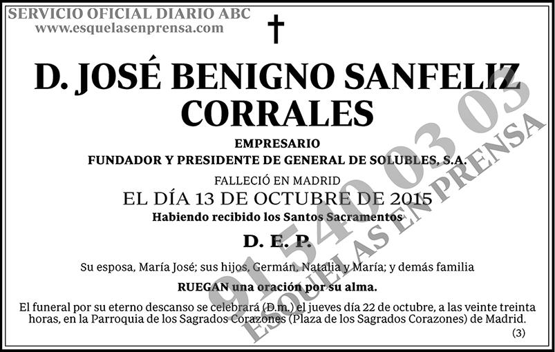 José Benigno Sanfeliz Corrales